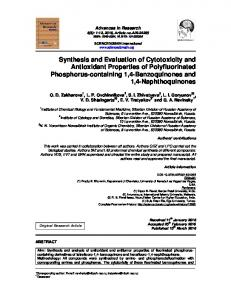 Synthesis and Evaluation of Cytotoxicity and ...