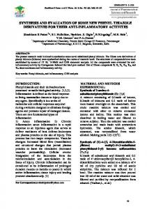 synthesis and evaluation of some new phenyl thiazole derivatives for ...