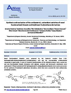 Synthesis and evaluation of the antibacterial, antioxidant ... - Arkivoc
