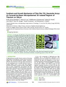 Synthesis and Growth Mechanism of Thin-Film TiO2 Nanotube Arrays ...