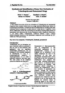 Synthesis and Identification of Some New Derivative