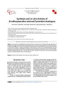 Synthesis and In vitro Activity of N-sulfonylamidine-derived Pyrimidine ...
