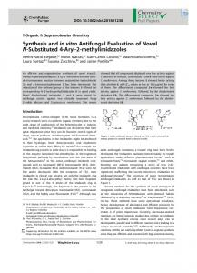 Synthesis and in vitro Antifungal Evaluation of Novel ...