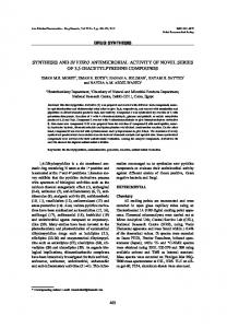 synthesis and in vitro antimicrobial activity of novel