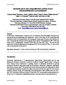 Synthesis and in vitro antiproliferative activity of new ... - Arkivoc