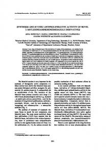 synthesis and in vitro antiproliferative activity of