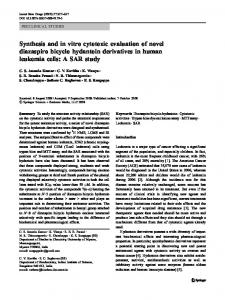 Synthesis and in vitro cytotoxic evaluation of novel diazaspiro bicyclo ...