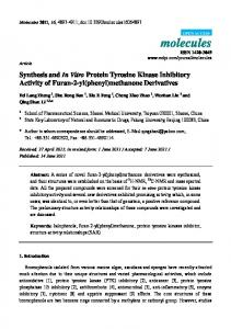 Synthesis and In Vitro Protein Tyrosine Kinase Inhibitory Activity of