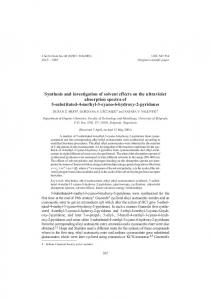 Synthesis and investigation of solvent effects on the ultraviolet ...