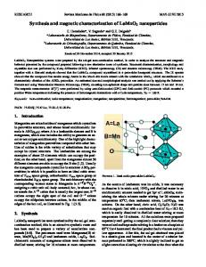 Synthesis and magnetic characterization of LaMnO3 ... - SciELO