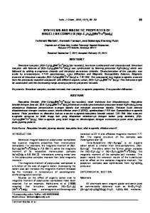SYNTHESIS AND MAGNETIC PROPERTIES OF