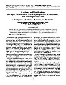 Synthesis and Modifications of Alkyne Derivatives of ... - Springer Link