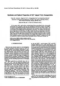 Synthesis and Optical Properties of Dy3+-doped Y2O3 ... - Springer Link