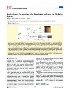 Synthesis and Performance of a Biomimetic ... - ACS Publications