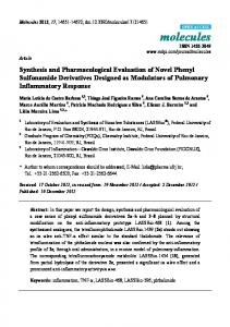Synthesis and Pharmacological Evaluation of Novel Phenyl