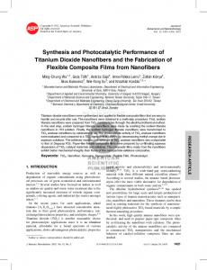 Synthesis and Photocatalytic Performance of Titanium Dioxide