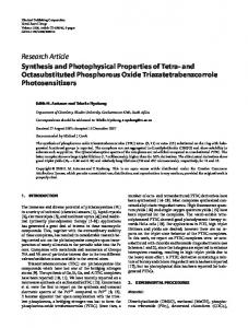 Synthesis and Photophysical Properties of Tetra-and Octasubstituted