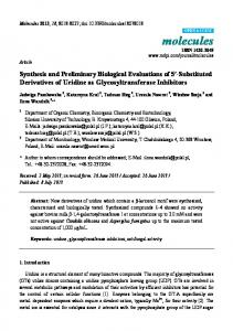 Synthesis and Preliminary Biological Evaluations ... - Semantic Scholar