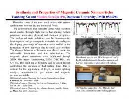 Synthesis and Properties of Magnetic Ceramic Nanoparticles