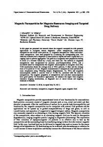 Synthesis and Properties of Magnetic NanoParticles