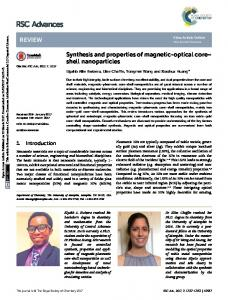 Synthesis and properties of magnetic-optical core