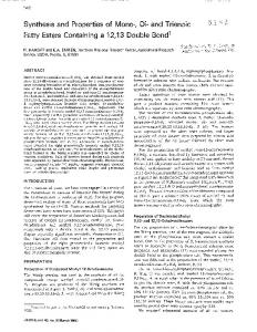 Synthesis and Properties of Mono-, Di- and Trienoic ... - PubAg - USDA