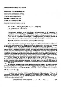 Synthesis and Properties of Phenothiazine Derivatives. 2. Spectral ...