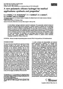 synthesis and properties - Wiley Online Library