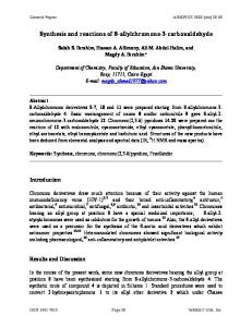 Synthesis and reactions of 8-allylchromone-3-carboxaldehyde - Arkivoc
