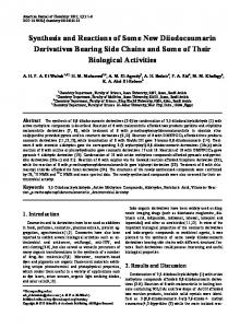 Synthesis and Reactions of Some New Diiodocoumarin Derivatives ...