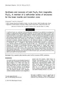 Synthesis and recovery of bulk Fe4O5 from magnetite, Fe3O4. A ...