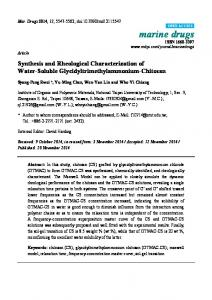 Synthesis and Rheological Characterization of ... - Semantic Scholar
