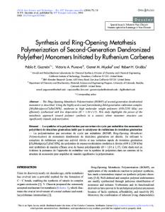 Synthesis and Ring-Opening Metathesis Polymerization of Second ...