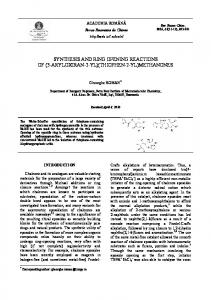 synthesis and ring opening reactions of - Revue Roumaine de Chimie