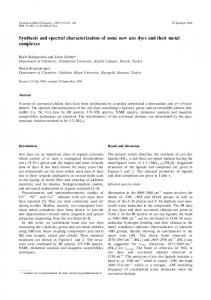 Synthesis and spectral characterization of some new ... - Springer Link