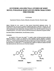 synthesis and spectral studies of some novel pyrazole derivatives from