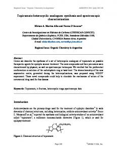 Synthesis and spectroscopic characterization of topiramate ... - Arkivoc