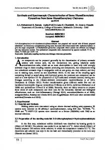 Synthesis and Spectroscopic Characterization of