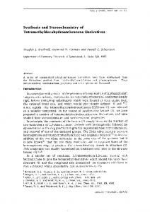 Synthesis and Stereochemistry of Tetramethyldecahydroanthracene