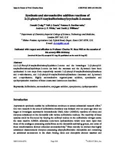 Synthesis and stereoselective addition reactions of 2-(S ... - Arkivoc