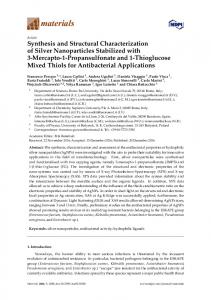 Synthesis and Structural Characterization of Silver Nanoparticles