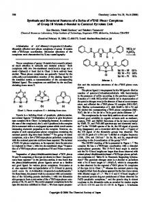 Synthesis and Structural Features of a Series of \kappa ... - CSJ Journals
