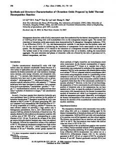 Synthesis and Structure Characterization of Chromium Oxide ...