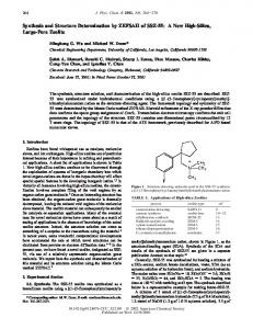 Synthesis and Structure Determination by ZEFSAII ... - ACS Publications