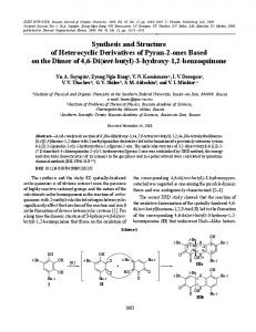 Synthesis and structure of heterocyclic derivatives of pyran-2-ones