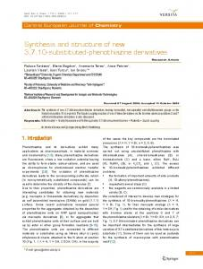 Synthesis and structure of new 3, 7, 10-substituted-phenothiazine ...