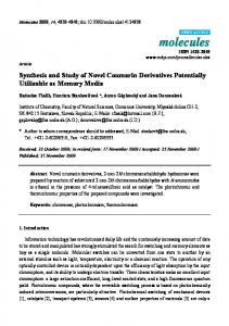 Synthesis and Study of Novel Coumarin Derivatives ... - CiteSeerX