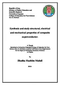 Synthesis and study structural, electrical and