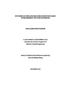 SYNTHESIS AND SWELLING BEHAVIOR OF BENTONITE BASED ...