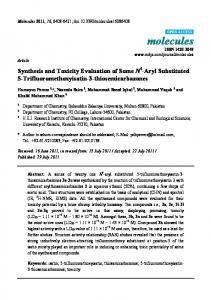 Synthesis and Toxicity Evaluation of Some N4-Aryl ... - Semantic Scholar